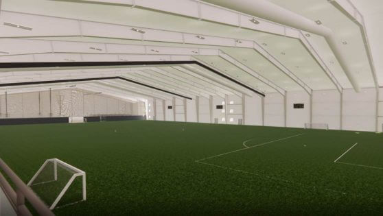 An image rendering of the Anderson Family Indoor Turf Field at the RecPlex.
