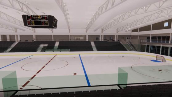 An image rendering of the Patty & Jim Cownie Family Ice Arena at the RecPlex.