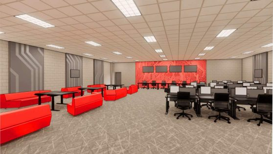 An image rendering of the Esports Center at the RecPlex.