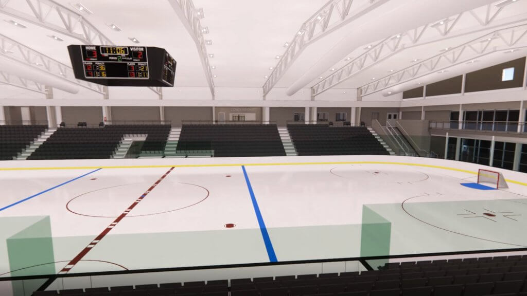 An image rendering of the Greg Abel Ice Arena at the RecPlex
