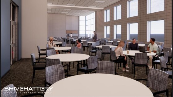 An image rendering of the Kum and Go Multipurpose Rooms at the RecPlex.